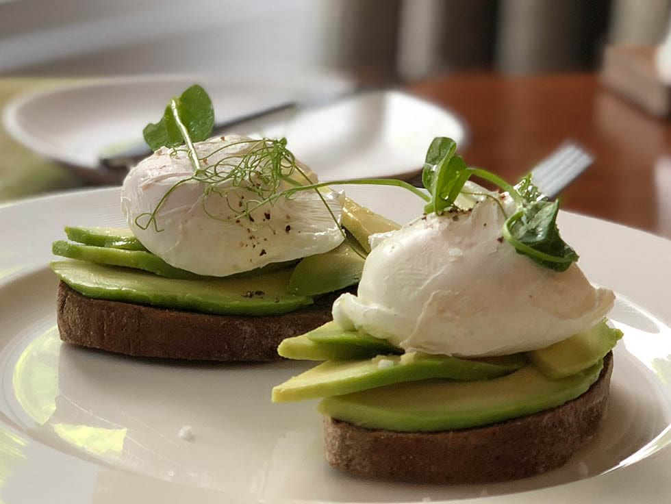 Avocado and egg dish